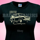 MINI COUNTRYMAN Classic AUSTIN - WOODIE - Ladies UK 6 To 18 Cotton T-Shirt