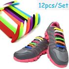 12pcs Unisex No Tie Shoelaces Elastic Silicone Shoe Lace Suitable 8 Colors LA