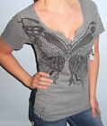 NWT Sexy Black FOX RACING RIDERS Black LACE BUTTERFLY T Shirt Top TEE XS X Small