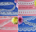 "White Lace Trim 10-32 Yards Vintage 1/2"" Scalloped 030CV Added Trims ShipFree"