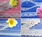 """White Lace Trim 8-28 Yards Vintage 3/4"""" Scalloped 030IV Your Choice"""