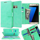 Dual Flip Leather book Double wallet Case cover for iPhone 7/ Galaxy S8 Plus /LG