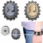 Retro Beauty Women Charms Snap Charm Bead Button Bead Fit Buckle Bracelet