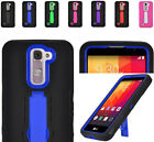 Shockproof 2Layer Armor Case Cover w/2Way Stand For LG K7 Tribute 5 Phone