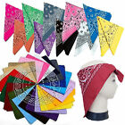 New Style 100% Cotton Paisley Bandanas Double Sided Head Wrap Scarf Wristband