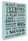 Inspirational Wall Picture Wall Decor Picture Plaque Blue Canvas Print A3/A4