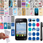For LG Optimus Zone 2 Fuel VS415PP L34C NEW TPU SILICONE Rubber Case Cover + Pen