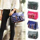 Oilcloth Polka dots Messenger Cross Body Satchel Shoulder Saddle Bag 4 colours