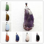 Beautiful Wrapped mixed gemstone & Silver Plated Flower Pendant Bead DL028