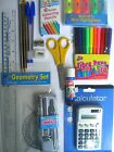 BACK TO SCHOOL STATIONERY - Pencils/Sharpeners/Erasers/Rulers/Pens/Maths Sets