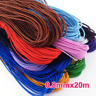 1Roll Elastic Jewelry Bracelet Making Beading Stretch Cord Thread 20Mx0.8mm
