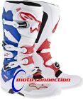 ALPINE STARS TECH 7 MOTOCROSS ENDURO BOOTS  RED / WHITE / BLUE - ADULT SIZES