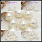 Wholesale Half Drilled 6-30mm ABS Pearl Round Loose Beads,DIY Jewelry Making !