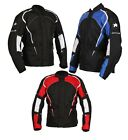 Buffalo Storm Tourer Black & White / Red / Blue Waterproof Motorcycle Jacket New