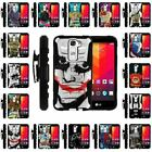 For LG Escape 2 | Clip + Holster + Case Combo Kickstand Heroes and Superhero