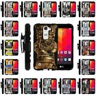 For LG Logos | Rugged Armor Series Impact Hard Rubber Cover + Belt Clip