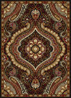 Black Swirls Curls Transitional Casual Area Rug Paisley Curves Paisley Carpet