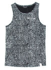 Nicce London Speckle Print Vest in Black & Grey RRP £25.99 *BWNT*