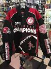 NCAA Alabama Crimson Tide National Champions Twill Jacket New with Tags