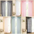 CASABLANCA SPARKLE VOILE CURTAIN PANEL READY MADE SLOT TOP VOILE PANELS