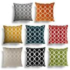 "Oh Luxury Chenille Cushion Cover Modern Circle Design 18"" 22"" All Colours"