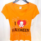 I Love Halloween Skull Heart Spiderwebs Short Sleeve Tshirt NWT