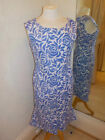 Gina Bacconi blue/white l Print Dress SLL5149