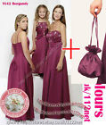 Dolly bag +3yrs to UK26 sequin beads wedding bridal bridesmaid flower girl dress
