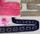 """Vintage Lace Trim 25-52 Yds CLOSEOUT 3/4"""" Navy Fuchsia Coffee 048GV Your Choice"""
