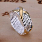 New Women Fashion Ring fashion Jewelry 925 sterling silver plated Size 6-10