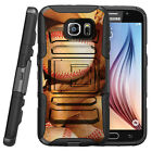 Samsung Galaxy S6 Active | Rugged Holster Clip Heavy Duty Case Baseball