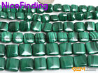 "Square Natural Malachite Gemstone Beads For Jewelry Making 15"" DIY 8mm 12mm 12mm"