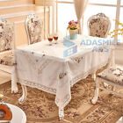 New Embroidered Party Wedding Table Linen Cloth Rectangular Floral Table Cover