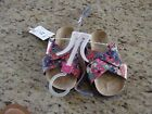 NEW Cherokee Delsie Floral Girls Sandals Size 8 10 11