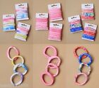 PACK OF 6 CARDS OF SOFT JERSEY ENDLESS ELASTICS, SCHOOL, BOBBLE, PONIOS, HAIR