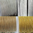 New Silver/Golden Tone Metal Ball Round Chain For Necklace Jewelry Findings 2M
