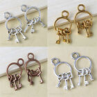 20pcs Silver/Gold/Bronze Plated Key Charm Pendant Jewelry Making Craft 26x12.5mm