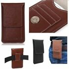 Genuine Leather Case Pouch Belt Clip Card Wallet Pouch Cover For iPhone 6 Plus