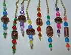 Assorted colors home decor ceiling fan light chain pulls w/ copper plated bead