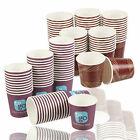 4oz Benders Disposable Paper Espresso Hot Cups 115ml Tea Cafe Coffee Drinking