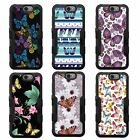 For LG K10 NATURAL TUFF Hybrid Rubber Hard Snap-on Case Black Black 1Colors