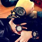 Men's Date Sport Leather Wrist Watch Waterproof Analog Sport Quartz Watches MSYG