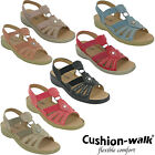 Womens Lightweight Open Toe Slingback Cushion Walk Flexible Summer Sandals