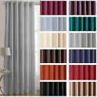 Faux Silk Light Reducing Thermal Coated Eyelet Ring Top Ready Made Curtains