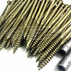 "100mm 4"" INDEX RAILWAY SLEEPER FASTENER LANDSCAPE SCREWS DECKING TIMBER FIX LOCK"