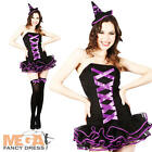 Bewitched Tutu Ladies Witch Fancy Dress Adulst Sexy Halloween Costume Outfit