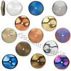 10 Big Czech Glass 12mm x3mm Wavy Ripple Opaque Round Rondelle Spacer Disc Beads