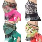New belly dance peacock hip scarf tribal gradient fringe tassel shawl 4 colours