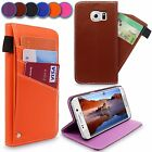For Samsung Galaxy S6 Edge PU Leather Flip Wallet Case Slider Card Slots Cover