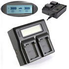 LCD Dual Battery Charger For Sony NP-FW50 A6300 A6000 RX10 A7R A7S A7 II NEX7 5R